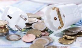 Ευρωπαϊκή ενεργειακή έννοια χρημάτων στοκ εικόνες
