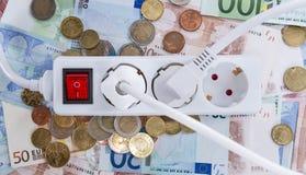 Ευρωπαϊκή ενεργειακή έννοια χρημάτων στοκ εικόνα με δικαίωμα ελεύθερης χρήσης