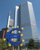 Ευρωπαϊκή Κεντρική Τράπεζα στη Φρανκφούρτη Στοκ Φωτογραφίες