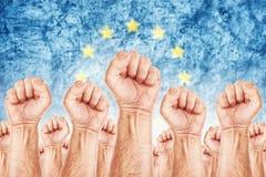 Ευρωπαϊκή μετακίνηση εργασίας, απεργία Εργατικού Συνδικάτου Στοκ Εικόνες