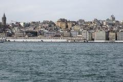 Ευρωπαϊκή πλευρά της Ιστανμπούλ, πύργος Galata Στοκ εικόνα με δικαίωμα ελεύθερης χρήσης