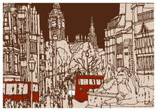 Ευρωπαϊκή πόλη Λονδίνο, πρωτεύουσα της Αγγλίας Στοκ εικόνα με δικαίωμα ελεύθερης χρήσης