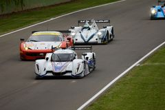 Ευρωπαϊκή δράση διαδρομής σειράς του Le Mans στο κύκλωμα Imola στοκ φωτογραφίες με δικαίωμα ελεύθερης χρήσης