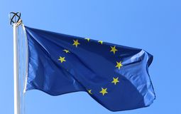 ευρωπαϊκή σημαία Στοκ Εικόνες