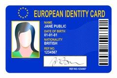 ευρωπαϊκή ταυτότητα καρτών Στοκ φωτογραφία με δικαίωμα ελεύθερης χρήσης
