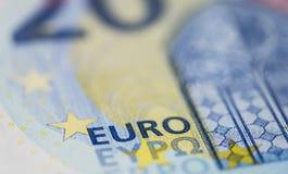 Ευρωπαϊκοί λογαριασμοί χρημάτων (μακρο πυροβολισμός) στοκ εικόνες