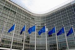 Ευρωπαϊκός κυματισμός σημαιών Στοκ Φωτογραφίες