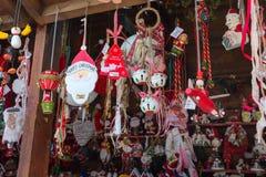 Ευρωπαϊκός στάβλος αγοράς Χριστουγέννων Στοκ Εικόνες