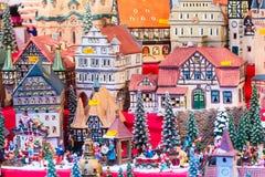 Ευρωπαϊκός στάβλος Νυρεμβέργη αγοράς Χριστουγέννων στοκ εικόνα