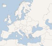 ευρωπαϊκός χάρτης χωρών Στοκ Φωτογραφίες