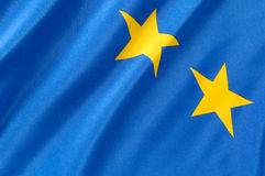 ευρωπαϊκό μέρος σημαιών Στοκ Φωτογραφίες