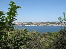 Ευρωπαϊκό μέρος της Ιστανμπούλ Bosphorus Στοκ εικόνα με δικαίωμα ελεύθερης χρήσης
