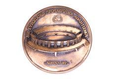 Ευρωπαϊκό μετάλλιο συμμετοχής πρωταθλημάτων αθλητισμού της Αθήνας 1982, obverse Kouvola, Φινλανδία 06 09 2016 στοκ φωτογραφία με δικαίωμα ελεύθερης χρήσης