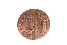 Ευρωπαϊκό μετάλλιο συμμετοχής πρωταθλημάτων αθλητισμού της Πράγας 1978, αντιστροφή Kouvola, Φινλανδία 06 09 2016 στοκ εικόνες με δικαίωμα ελεύθερης χρήσης