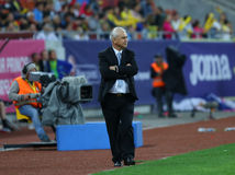 ευρωπαϊκό λουξεμβούργιο Μάρτιος neamt piatra πρωταθλήματος 29 2011 που είναι κατάλληλο τη Ρουμανία γύρω από το UEFA εναντίον ΓΕΩΡ Στοκ φωτογραφία με δικαίωμα ελεύθερης χρήσης