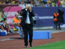 ευρωπαϊκό λουξεμβούργιο Μάρτιος neamt piatra πρωταθλήματος 29 2011 που είναι κατάλληλο τη Ρουμανία γύρω από το UEFA εναντίον ΓΕΩΡ Στοκ Εικόνα