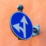 Ευρωπαϊκό οδικό σήμα Στοκ Εικόνες