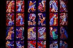Ευρωπαϊκό παράθυρο Stainglass Στοκ φωτογραφία με δικαίωμα ελεύθερης χρήσης
