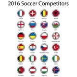 ευρωπαϊκό ποδόσφαιρο διανυσματική απεικόνιση