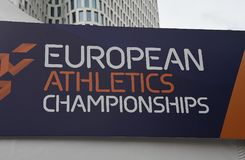 Ευρωπαϊκό πρωτάθλημα αθλητισμού στο Σαββατοκύριακο του Βερολίνου Στοκ Εικόνες