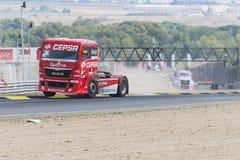2014 ευρωπαϊκό πρωτάθλημα αγώνα φορτηγών Στοκ Εικόνες