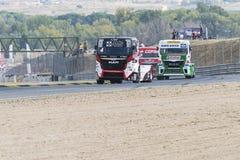 2014 ευρωπαϊκό πρωτάθλημα αγώνα φορτηγών Στοκ εικόνες με δικαίωμα ελεύθερης χρήσης