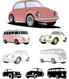 Ευρωπαϊκό σχέδιο αυτοκινήτων του παρελθόντος Στοκ φωτογραφία με δικαίωμα ελεύθερης χρήσης