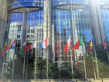 Ευρωπαϊκό τέταρτο στις Βρυξέλλες, Βέλγιο Στοκ Εικόνες