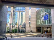 Ευρωπαϊκό τέταρτο στις Βρυξέλλες, Βέλγιο Στοκ Εικόνα