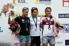 Ευρωπαϊκό Triathlon της Κρεμόνας κύπελλο ορμής ITU Στοκ φωτογραφίες με δικαίωμα ελεύθερης χρήσης