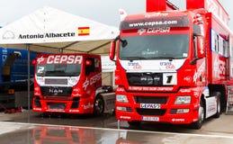 ευρωπαϊκό truck αγώνα FIA πρωταθλήματος του 2012 Στοκ φωτογραφίες με δικαίωμα ελεύθερης χρήσης