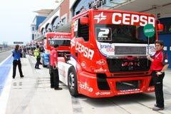 ευρωπαϊκό truck αγώνα FIA πρωταθλήματος του 2012 Στοκ εικόνες με δικαίωμα ελεύθερης χρήσης