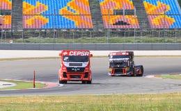 ευρωπαϊκό truck αγώνα FIA πρωταθλήματος του 2012 Στοκ εικόνα με δικαίωμα ελεύθερης χρήσης