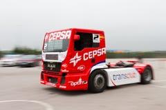 ευρωπαϊκό truck αγώνα FIA πρωταθλήματος του 2012 Στοκ φωτογραφία με δικαίωμα ελεύθερης χρήσης