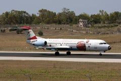 ΕΥΡΩ 2008 αυστριακό Jetliner Στοκ Εικόνα