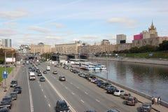Ευρύς δρόμος στη Μόσχα Στοκ Εικόνα