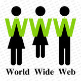 ευρύς κόσμος Ιστού σημαδ& Στοκ Εικόνες
