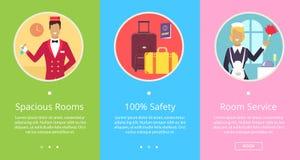 Ευρύχωρα δωμάτια, ασφάλεια 100 και τοπ υπηρεσία Στοκ εικόνα με δικαίωμα ελεύθερης χρήσης