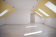 Ευρύχωρο αττικό δωμάτιο Στοκ Εικόνα