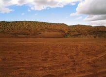 Ευρύ και επεκτατικό arroyo ερήμων της Αριζόνα στοκ φωτογραφίες με δικαίωμα ελεύθερης χρήσης