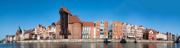 Ευρύ πανόραμα του Γντανσκ Στοκ φωτογραφία με δικαίωμα ελεύθερης χρήσης