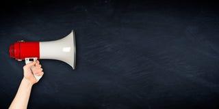 Ευρύ megaphone επιχειρησιακό υπόβαθρο πινάκων Στοκ Εικόνες