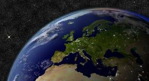 Ευρώπη από το διάστημα απεικόνιση αποθεμάτων
