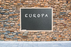 Ευρώπη για την ειρήνη Στοκ φωτογραφία με δικαίωμα ελεύθερης χρήσης