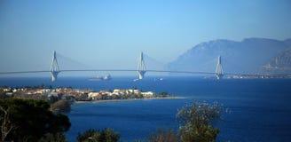Ευρώπη, Ελλάδα, γέφυρα Rion Antirion Στοκ Εικόνα