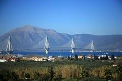 Ευρώπη, Ελλάδα, γέφυρα Rion Antirion Στοκ Φωτογραφία