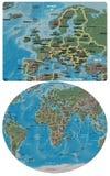 Ευρώπη και χάρτης της Ευρώπης Αφρική απεικόνιση αποθεμάτων