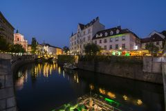 Ευρώπη Λουμπλιάνα Σλοβ&epsi Στοκ εικόνα με δικαίωμα ελεύθερης χρήσης