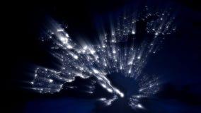 Ευρώπη τη νύχτα με την ακτίνα των φω'των (βρόχος) διανυσματική απεικόνιση