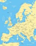 Ευρώπη - χάρτης - απεικόνιση Στοκ Εικόνες